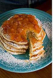 Marianne Malina makes her pancakes with Rambler Sparkler Water