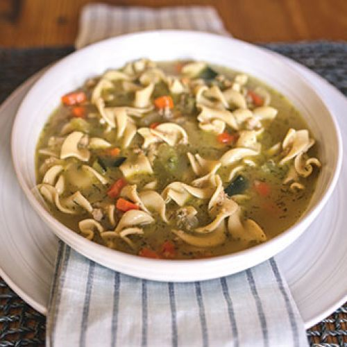 "Jote's Mom's ""Generations-Pleasing"" Fakie Chicken Noodle Soup"