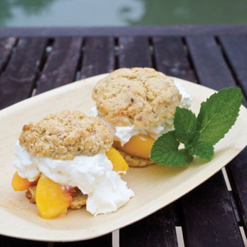 Peach Shortcake with Lavender Whipped Cream