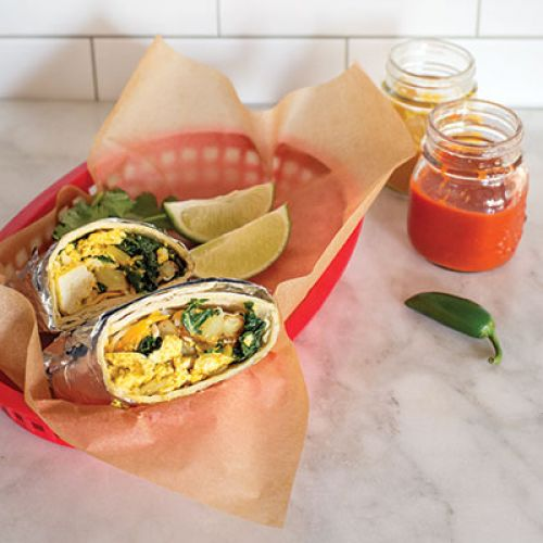 Burritos with Spicy Scrambled Tofu and Veggies
