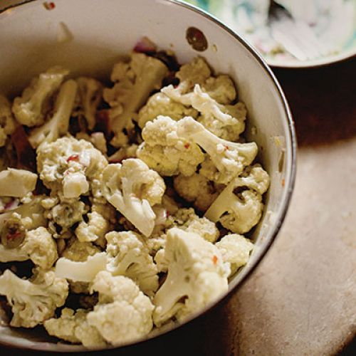 "Guy Forsyth's ""Still Gonna Get Kissed"" Fresh Cauliflower Salad"