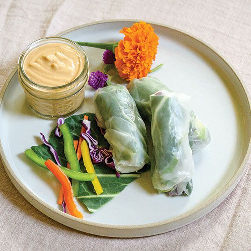 Fresh Summer Rolls with Soy-Free Peanut Sauce