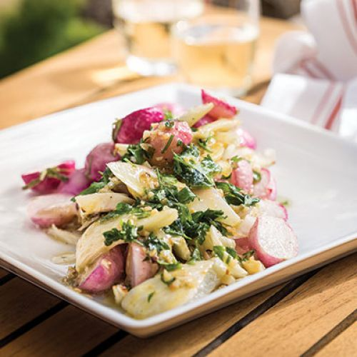 Roasted Radish and Fennel with Bagna Cauda