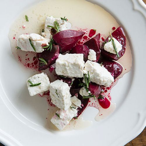 Pickled Beets with Marinated Feta