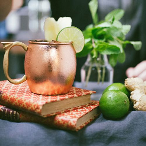 Moscow Mule with Infused Vodka