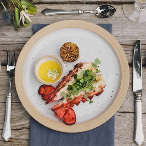 OFYR Grilled Lobster Tails with Wasabi Lime Butter