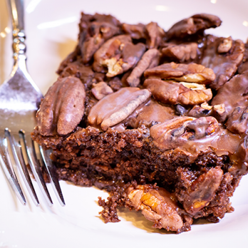 The Garner Family's Old-Fashioned 1945 Chocolate Sheet Cake
